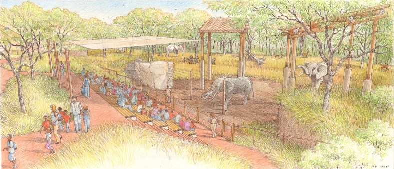 elephant demo area rendering