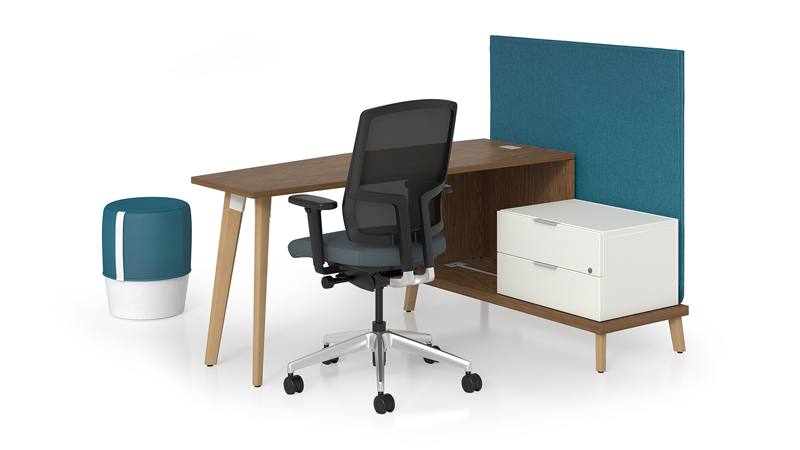 stad workstation with pouf