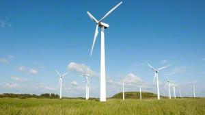 A modern wind farm